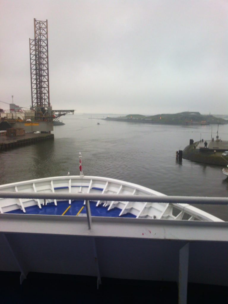 Entering Port