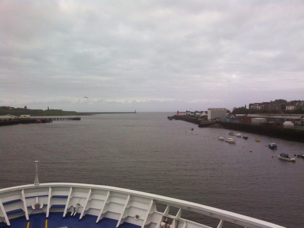 Exiting from the Port of Tyne