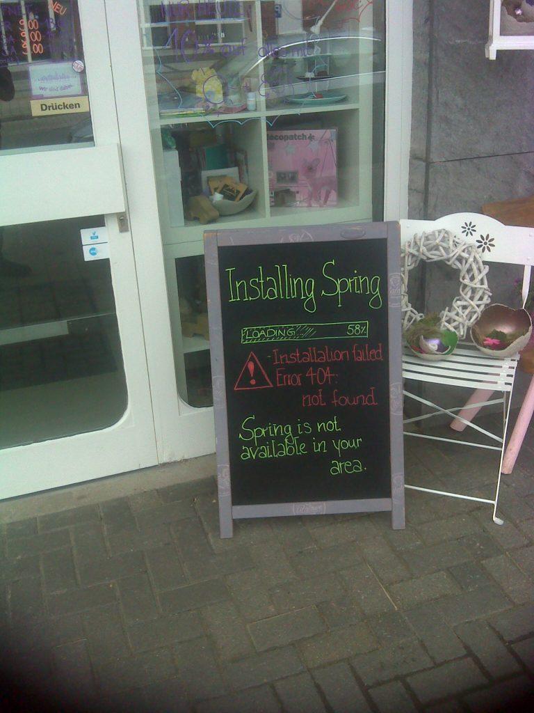 Sign outside of shop